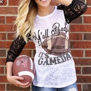 Southern Grace Burnout Football Tee